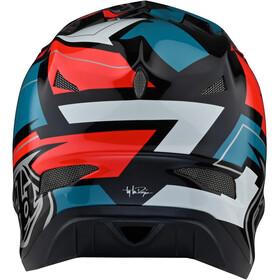 Troy Lee Designs D3 Fiberlite Helm vertigo blue/red